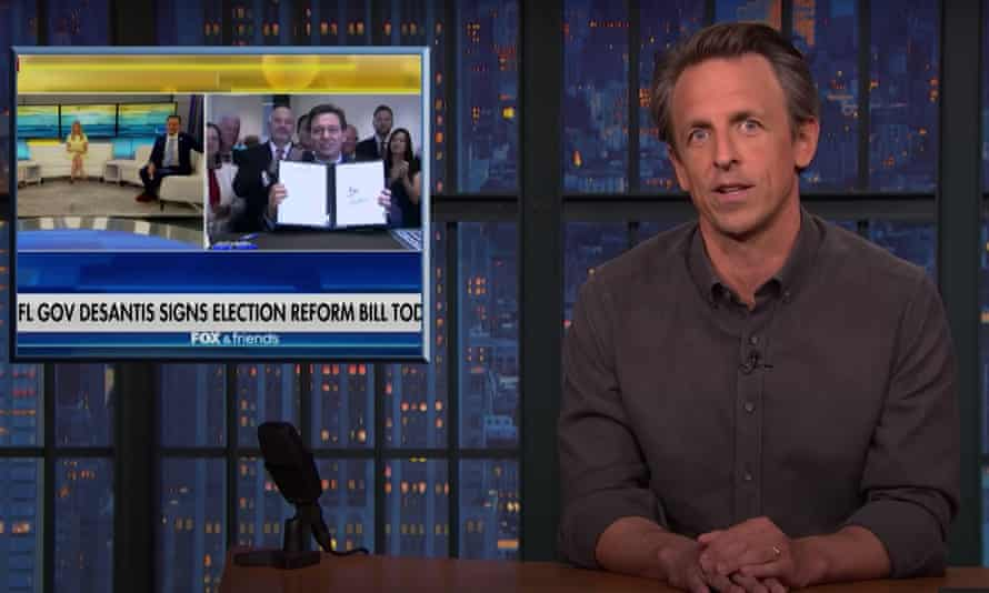 Seth Meyers: 'It's like when a loan shark knocks on your door with two goons on either side – you know what he's there for.'