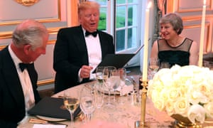 Donald Trump with Prince Charles and Theresa May at Winfield house