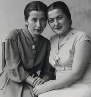 Tiko Tuskadze's paternal grandmother, Tina (on right), with her sister Lena.