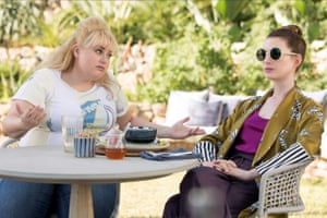 Rebel Wilson and Anne Hathaway in The Hustle.