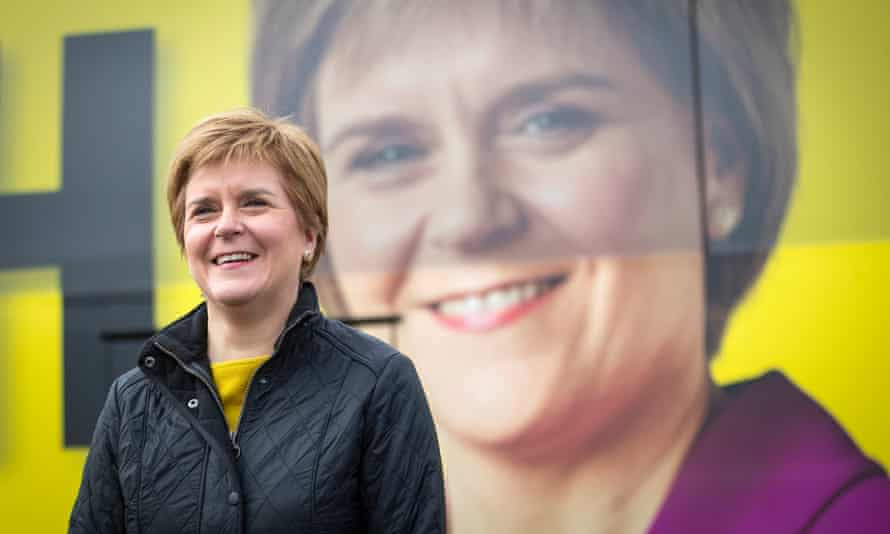 Nicola Sturgeon campaigns at Drumgelloch near Airdrie on Tuesday. Anti-independence campaigners fear the first minister's personal popularity during the Covid crisis will lead to a significant pro-referendum majority.