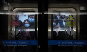 People on the subway in Beijing