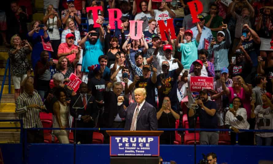 Donald Trump in Austin, Texas.