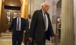 Bernie Sanders on the day of the Senate vote on the tax reform bill, 20 December 2017 in Washington DC.