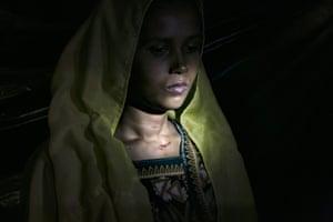 Roshida Begum, 22, fled to Bangladesh from Tula Toli village in Myanmar