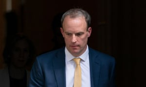 Dominic Raab in Downing Street in April
