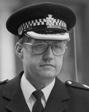 Duckenfield, pictured here in 1989, was the overall match commander on the day of the Hillsborough disaster.