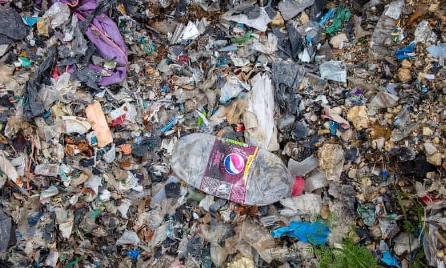 Plastic waste dumped in Adana province in Turkey