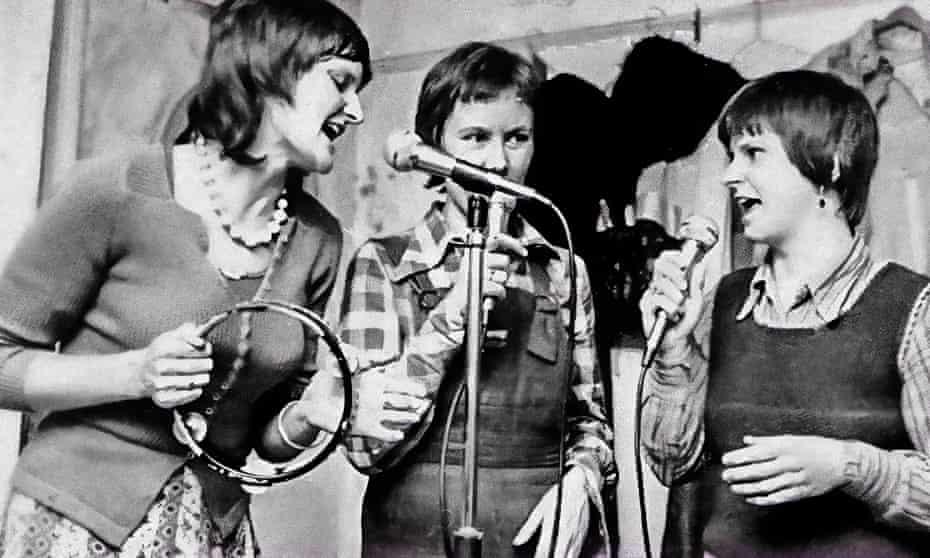 'We took our politics way beyond feminism' … Ruthie Smith, Caroline Gilfillan and Marion 'Benni' Lees McPherson.