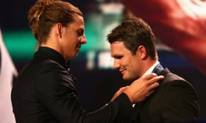 Patrick Dangerfield (right) and Nat Fyfe
