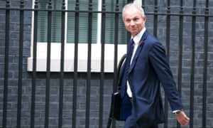 David Lidington arrives in Downing Street for a cabinet meeting.