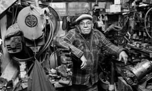 A cobbler in his workshop in Hackney, from Colin O'Brien's book London Life