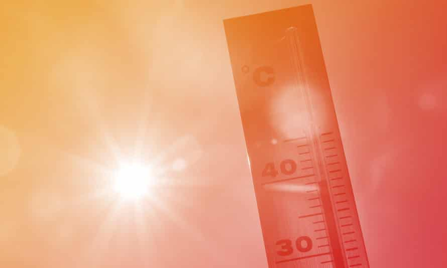 A thermometer in Lille shows temperatures hitting nearly 40 degrees as a heatwave spread through Europe in 2015