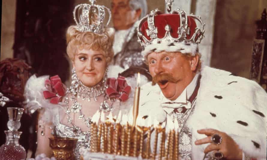 Anna Quayle and Gert Fröbe in Chitty Chitty Bang Bang, 1968, her big-screen break.