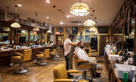 Savills Barbers in Sheffield on Friday before the city entered tier 3 restrictions