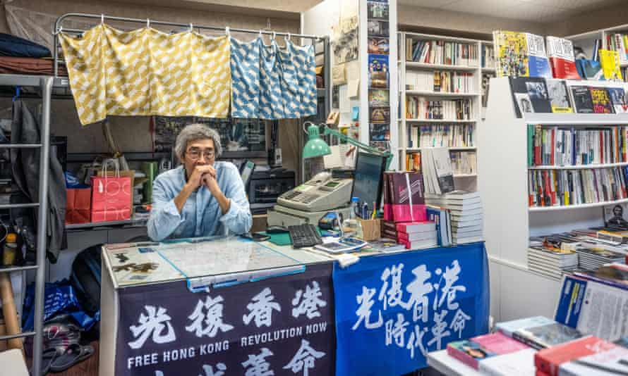 'It's important for people to read such works to understand,' says the dissident Hong Kong bookseller Lam Wing-kee from his new shop in Taiwan.