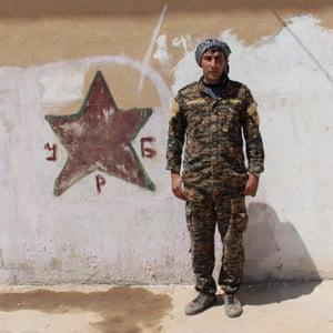 Azad Garyae, 29, at Tal Tamr barracks