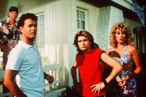Bruce Dern, Tom Hanks, Corey Feldman and Wendy Schaal in The 'Burbs.