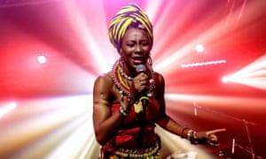 Fatoumata Diawara performs in Milan, 26 November 2019.