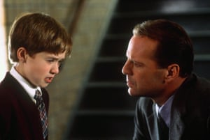 Osment, aged 10, with Bruce Willis in The Sixth Sense.