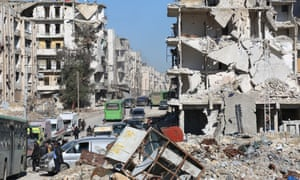 Civilians are bussed out of Aleppo, Syria, in mid-December