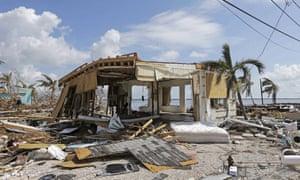 Aftermath of Hurricane Irma in Big Pine Key, Florida