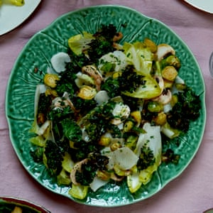 Sprout and kale salad.