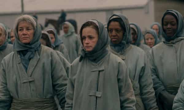A scene from the new season of The Handmaid's Tale.