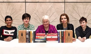 Reading widely the Baileys women's prize for fiction announces its 2016 longlist as chosen by this year's judging panel (L-R): Naga Munchetty, Tracey Thorn, Margaret Mountford (chair), Elif Shafak and Laurie Penny.