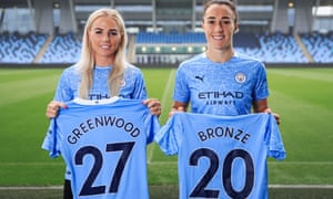 Manchester City unveil new signings Alex Greenwood and Lucy Bronze.