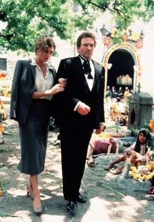 Playing drunk … Finney with Jacqueline Bisset in 1984's Under the Volcano.