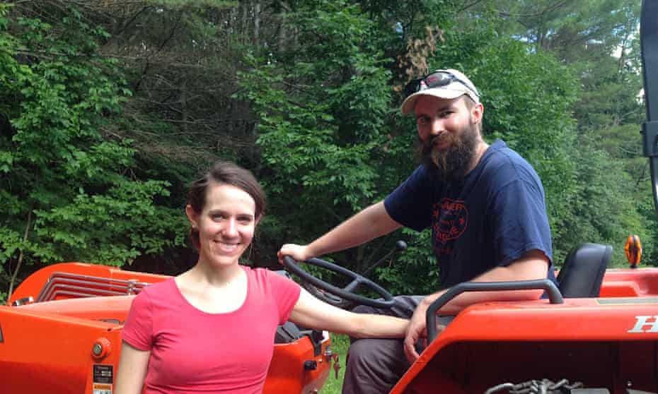 """Nate and Elizabeth on the homestead. """"When you do something yourself, you also permanently reduce your dependency on outside sources and permanently increase your own aptitudes."""""""