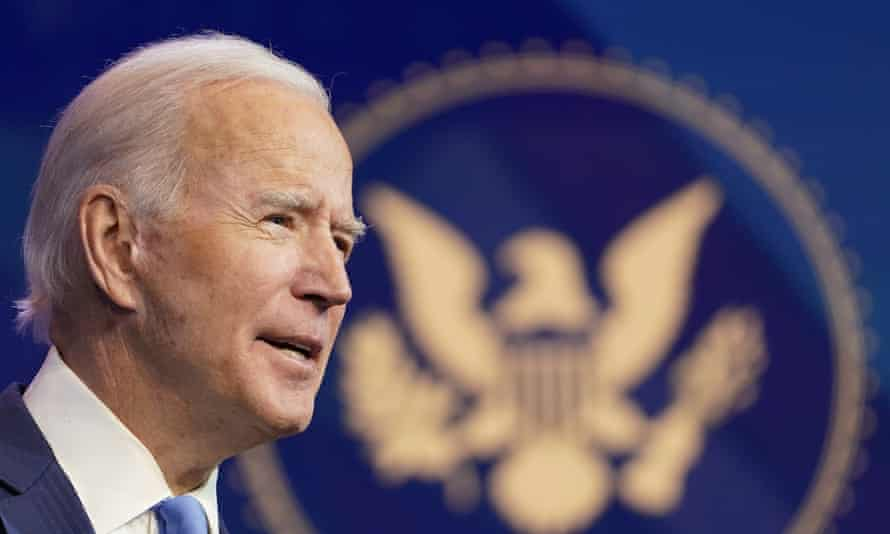 Joe Biden said he would immediately start working with counterparts on climate change mitigation.