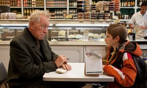 Thomas Horn, right, with Max Von Sydow in Extremely Loud and Incredibly Close.