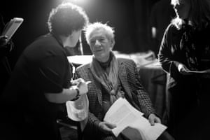 Sir Ian McKellen, who presented Andy Serkis with the award for outstanding contribution to British cinema