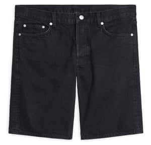 Organic cotton denim shorts, £55 Arket.