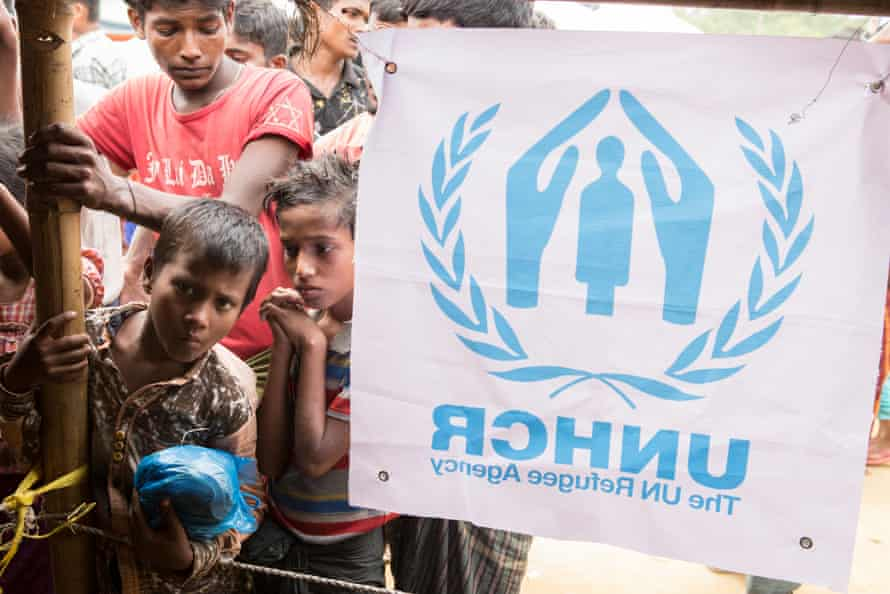 A UNHCR distribution centre in Kutupalong camp in Bangladesh.