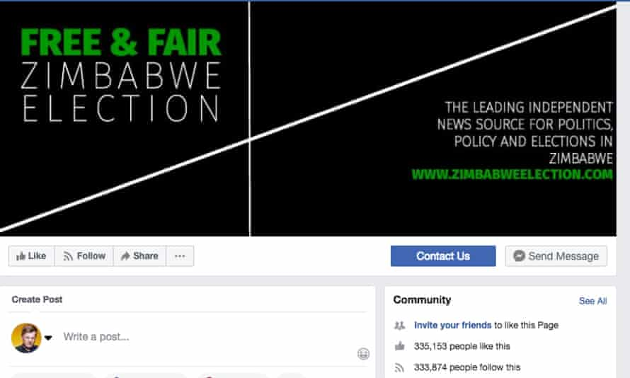 Free and Fair Zimbabwe Election page