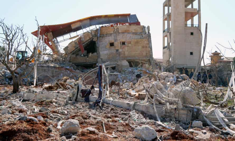 Rubble of a hospital supported by Médecins Sans Frontières in Idlib after it was hit by suspected Russian airstrikes.