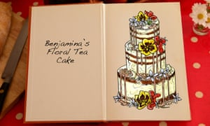 Benjamina's Floral Tea Cake, an illustration for the Great British Bake Off creation by Tom Hove.
