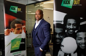 Troy Townsend, Kick It Out's development officer and the father of Andros Townsend.
