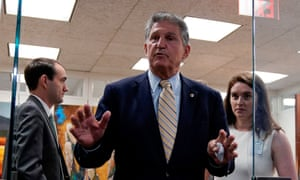 Joe Manchin after a meeting on Capitol Hill earlier today.