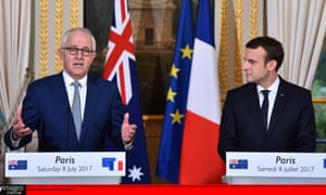 Malcolm Turnbull and Emmanuel Macron