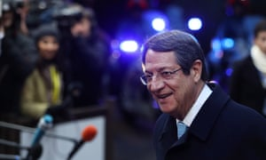 The incumbent president of Cyprus, Nicos Anastasiades
