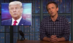 Seth Meyers on the Trump campaign's 'election defense' fund: 'You have to at least give Trump credit for consistency – everything he does is a scam and this one is no different.'