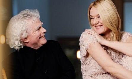 'Nice to finally meet you' ... guests Simon Rattle and Magdalena Kožená.