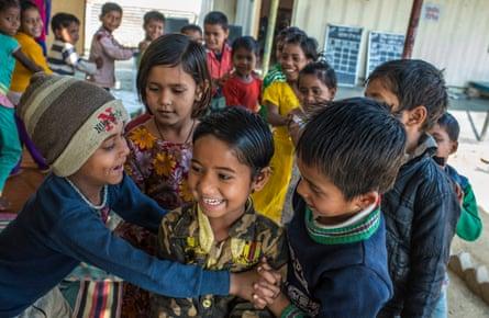 Children playing at Mobile Creche in Delhi.