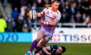 Stuart Hogg was outstanding for Exeter in their victory at Sale.