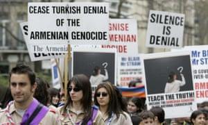Armenian protestors