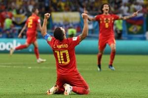 Eden Hazard at the final whistle.